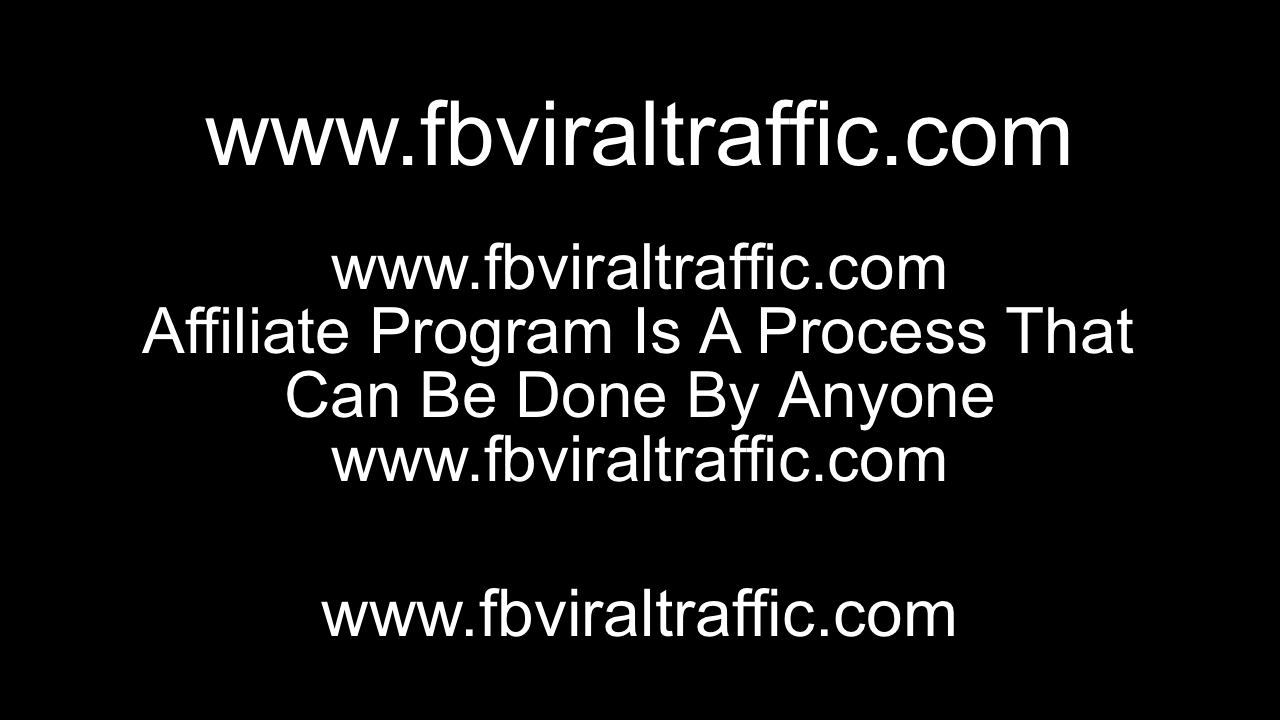 Affiliate Program Is A Process That Can Be Done By Anyone