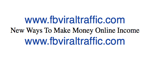 New Ways To Make Money Online Income