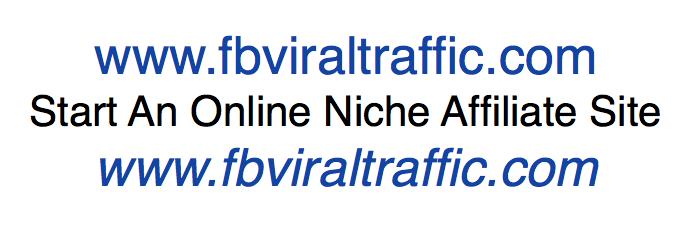 Start An Online Niche Affiliate Site