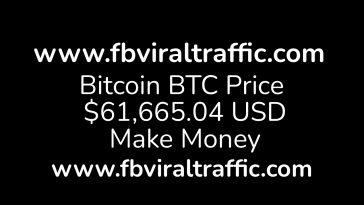 Bitcoin btc price $61,665.04 USD